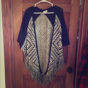 Live and Let Live Cardigan Open Poncho
